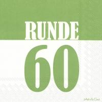 Servietten 33x33 cm - RUNDE 60 green