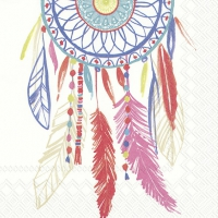 Servietten 33x33 cm - DREAMCATCHER white