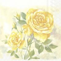 Servietten 33x33 cm - ROSE BOUTIQUE yellow