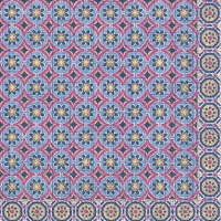 Servietten 33x33 cm - MARRAKESCH blue pink