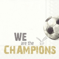 Servietten 33x33 cm - WE ARE THE CHAMPIONS gold