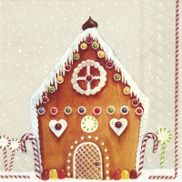 Servietten 33x33 cm - MY SWEET HOUSE linen