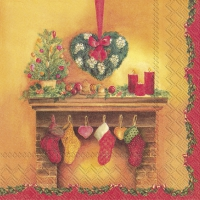Servietten 33x33 cm - DECORATIVE CHIMNEY
