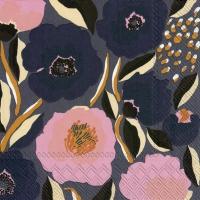 Servietten 33x33 cm - ROSARIUM blue rose