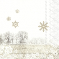 Servietten 33x33 cm - SILENT WINTER DAY linen
