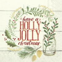 Servietten 33x33 cm - HOLLY JOLLY CHRISTMAS