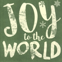Servietten 33x33 cm - JOY TO THE WORLD green