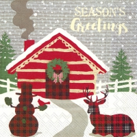 Servietten 33x33 cm - SEASONS GREETINGS