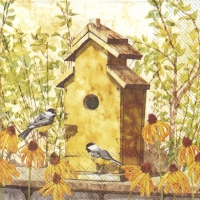 Servietten 33x33 cm - BIRDHOUSE IN FALL