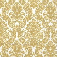 Servietten 33x33 cm - PALAIS white gold