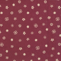 Servietten 33x33 cm - LITTLE JOY bordeaux
