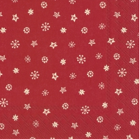 Servietten 33x33 cm - LITTLE JOY cream red