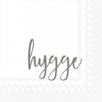 Servietten 33x33 cm - HYGGE grey