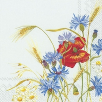 Servietten 33x33 cm - IN THE FIELDS light blue