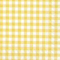 Servietten 33x33 cm - TAVERNA yellow