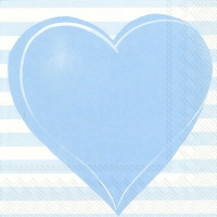 Servietten 33x33 cm - ALL YOU NEED IS LOVE ligh.blue