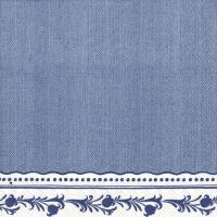 Servietten 33x33 cm - LUCA white blue