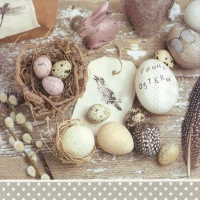 Servietten 33x33 cm - EASTER DECORATION