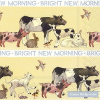 Servietten 33x33 cm - BRIGHT NEW MORNING