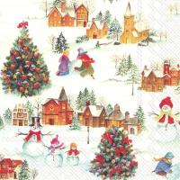 Servietten 33x33 cm - HAPPY CHRISTMAS TIME