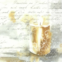 Servietten 33x33 cm - FESTIVE LIGHT gold silver