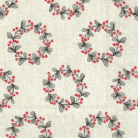 Servietten 33x33 cm - LITTLE GARLANDS grey