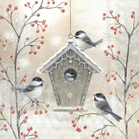 Servietten 33x33 cm - BEAUTIFUL BIRDHOUSE