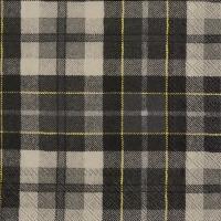 Servietten 33x33 cm - TARTAN grey