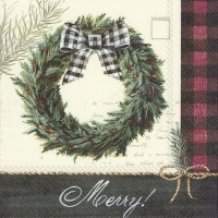 Servietten 33x33 cm - COZY KNIT HOLIDAY WREATH