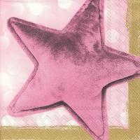 Servietten 33x33 cm - VELVET STAR gold