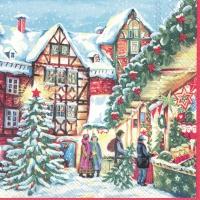 Servietten 33x33 cm - WINTERLY CHRISTMAS MARKET