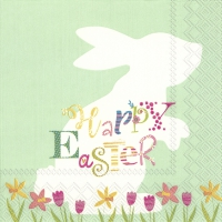 Servietten 33x33 cm - FUNNY BUNNY light green