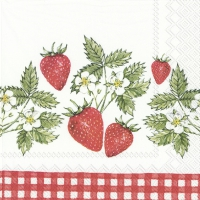 Servietten 33x33 cm - STRAWBERRIES IN LOVE