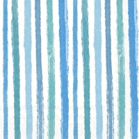 Servietten 33x33 cm - COLOURFUL STRIPES blue