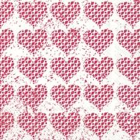 Servietten 33x33 cm - FANCY HEARTS red