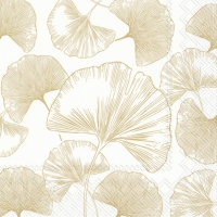 Servietten 33x33 cm - GOLDEN GINKGO gold
