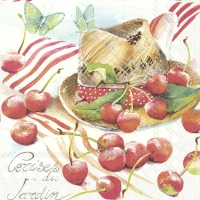 Servietten 33x33 cm - SUMMER CHERRY