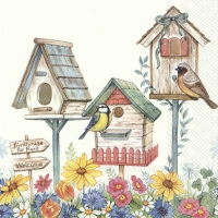 Servietten 33x33 cm - BIRDHOUSE FOR RENT