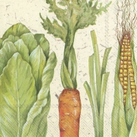 Servietten 33x33 cm - I LOVE VEGETABLES