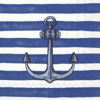 Servietten 33x33 cm - SAILOR´S ANCHOR blue