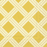 Servietten 33x33 cm - SAILOR´S ROPE yellow