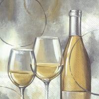 Servietten 33x33 cm - MODERN WHITE WINE