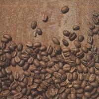 Servietten 33x33 cm - COFFEE BEANS