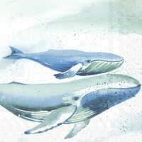 Servietten 33x33 cm - AQUAWORLD WHALE