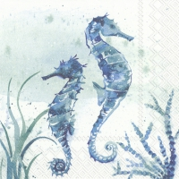 Servietten 33x33 cm - AQUAWORLD SEA HORSE