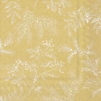 Servietten 33x33 cm - SILENTS PLANTS gold