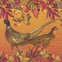 Servietten 33x33 cm - GOLDEN PHEASANTS