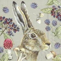 Servietten 33x33 cm - COUNTRY RABBIT linen