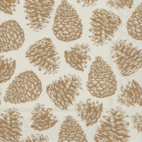 Servietten 33x33 cm - MAGIC PINE linen