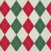 Servietten 33x33 cm - CLASSICAL red green